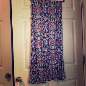 Red and blue cotton mani skirt